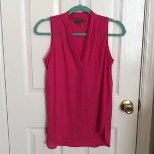 Vince Camuto V-Neck Pleated Tank Top